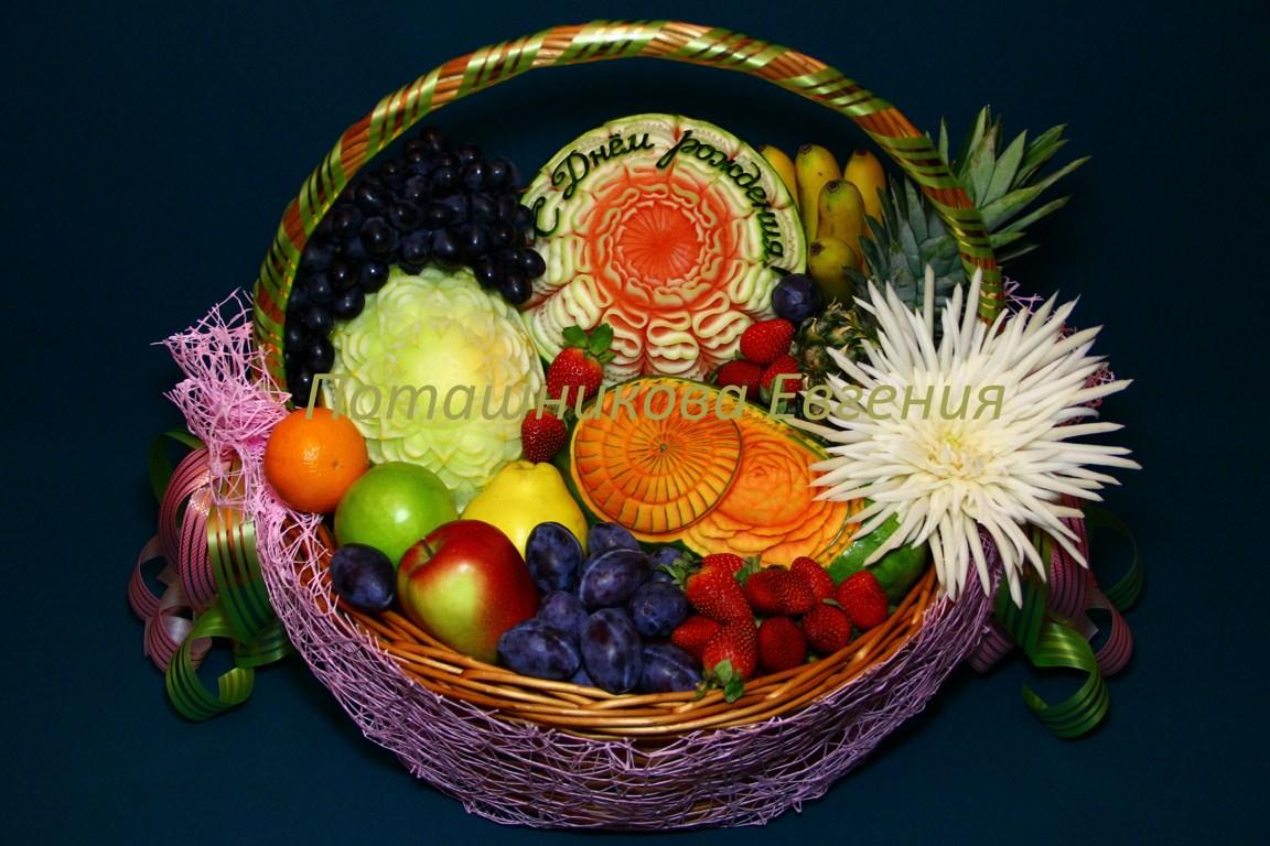 Корзина с фруктами на День Рождения